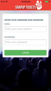 #EventProfs-Verify tickets quickly and easily with snap up tickets iPhone app