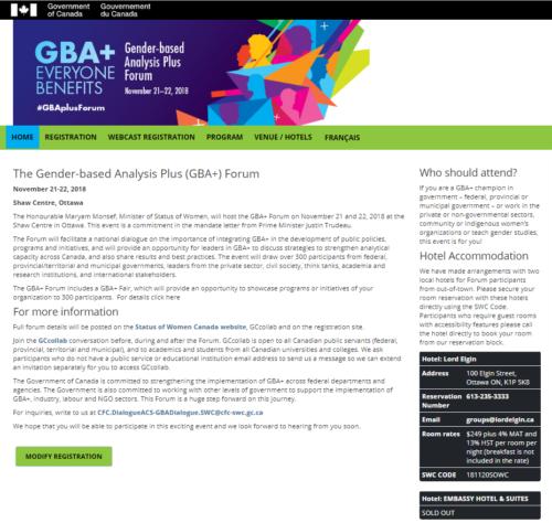 GBA Landing Page
